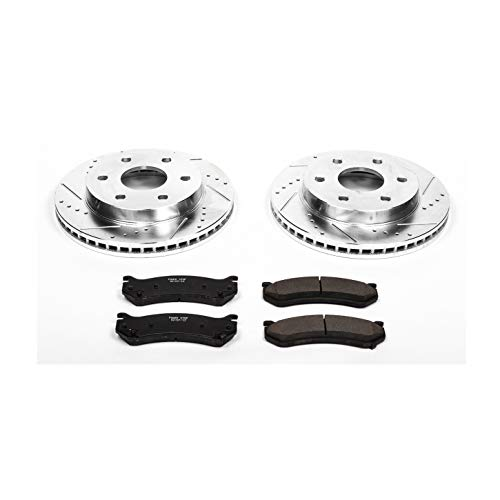 Power Stop K2009 Front Brake Kit with Drilled/Slotted Brake Rotors and Z23 Evolution Ceramic Brake Pads ()