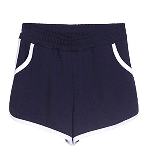 Marina Pants Corti Elastica Pantaloncini Pantaloni Donna Yoga Hot Fitness Casuale Jogging Militare Vita Sport zwYq7gP