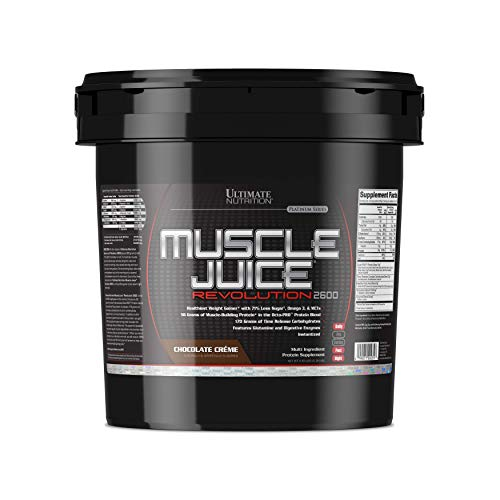 Nutrition Revolution - Ultimate Nutrition Muscle Juice Revolution Weight and Muscle Gainer Protein Powder with Egg Protein, Micellar Casein, and Maltodextrin, Chocolate, 11.1 Pounds