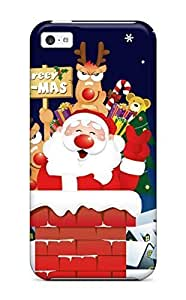 LJF phone case Cute Appearance Cover/tpu YbEoEOJ8935SrUPi Santa Is Coming Eve Night Chimney Xmas Claus Holiday Christmas Case For iphone 4/4s