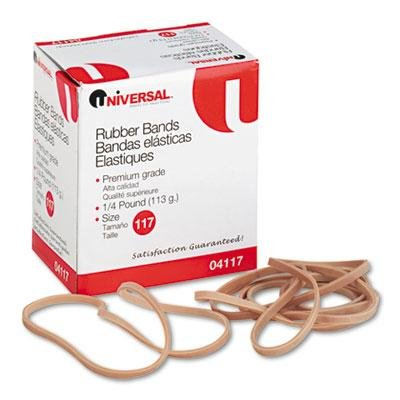 Universal Rubber Bands, Size 117, 7 X 1/8, 50 Bands/1/4Lb Pa