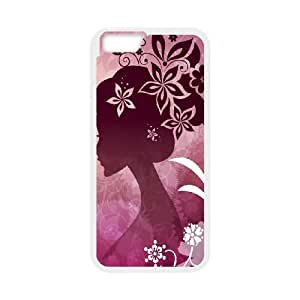 iPhone 6 4.7 Inch Cell Phone Case White Woman with Flowers Zplpa