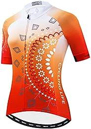 Weimostar Women's Cycling Jersey Bike Shirts Short Sleeve Ladies Bicycle Clothing MTB Cycle Ja