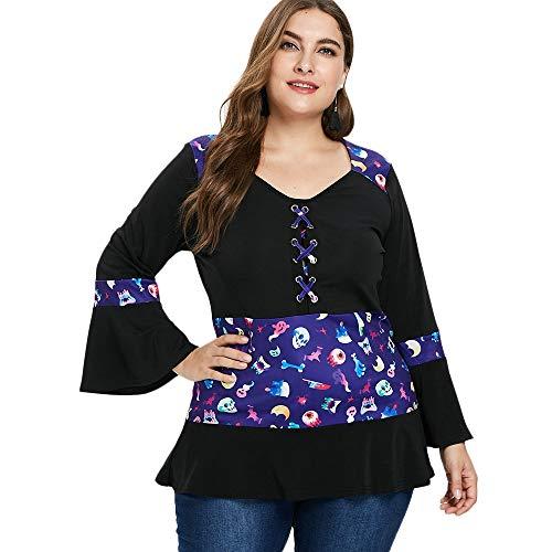 KCatsy Plus Size Criss Cross Ruffle Hem T-Shirt Black]()