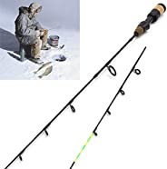New 58cm Winter Ice Fishing Rods 2 Tips Spinning Rod Carbon Fiber Ice Pole Ultra-Light Carp Fishing