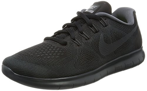 NIKE Women's Free RN 2017 Running Shoe (8 B(M) US, Black/Anthracite Dark Grey)