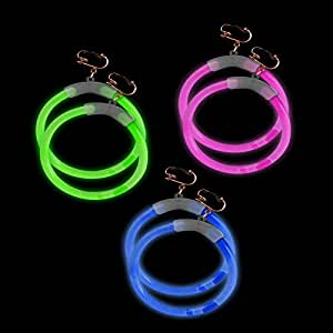 Fun Central G712 Glow Earrings - Assorted - 6 Pack