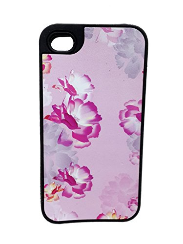 iCandy™ Rubber Printed Matte Soft Back Cover for Apple iPhone 4 / Apple iPhone 4s   Flower