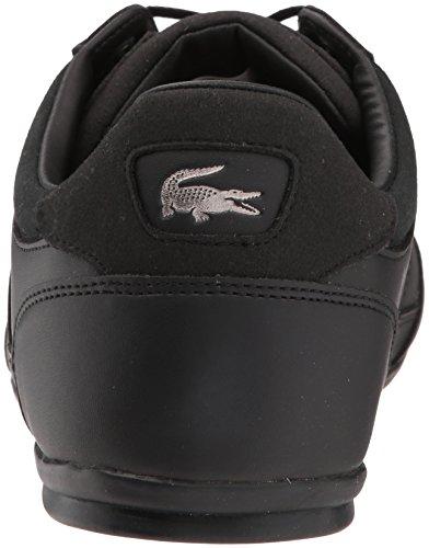 Lacoste Men's Chaymon 118 1 Sneaker, Black/DKGRY, 13 M US