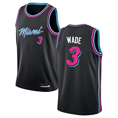 honesy #3_ Dwyane_Wade_Miami_Heat_Black 2018/19 Swingman Jersey - City Edition-Youth/Boys (Youth XL)