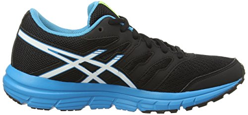 ASICS Gel-Zaraca 4 Gs - Zapatillas de running unisex Negro (Black/White/Atomic Blue 9001)