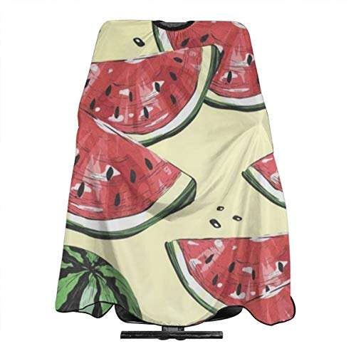 (Watermelons And Dots Barber Cape for All Perfect Salon Apron for Hair Treatment - Cutting/Coloring/Perming - All Shampoo Chemical Proof Hairdresser Large Size)