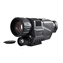 Pyle PSHTCM88 Handheld Night Vision Camera with Record Video, Snap Images, LCD Display and Built-in Rechargeable Battery