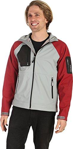Stormtech Aeros H2Xtreme Shell Jacket Grey/Wine Sz (H2xtreme Shell Jacket)