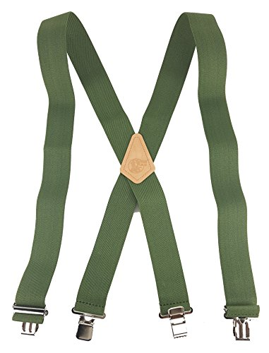 SOLID COLOR - OLIVE DRAB - USA MADE CUSTOM SUSPENDERS - 2