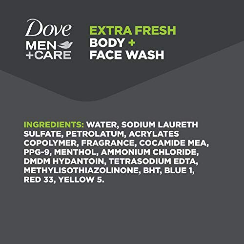Dove Men+Care Body Wash for Men's Skin Care Extra Fresh Effectively Washes Away Bacteria While Nourishing Your Skin 18 oz. 4 Count