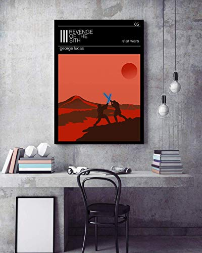 Star Wars Revenge Of The Sith Poster Minimalist Prints Home Decor All Avialable In 9 SIZES And 3 Type MATERIALS