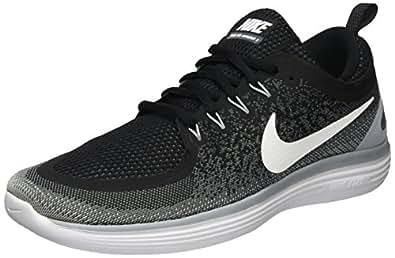 Nike Men's Free Rn Distance 2 Black/White Cool Grey Running Shoe Size 8