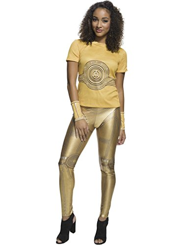 (Star Wars Womens C-3Po Rhinestone T-Shirt Costume)