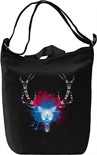 Animal Skull Borsa Giornaliera Canvas Canvas Day Bag| 100% Premium Cotton Canvas| DTG Printing|