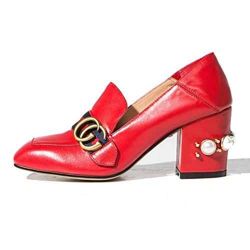quadrato Particolari Rhinestones 37 Red calzature alti YWNC del Rhinestone le del multicolore grande piegano Tacchi donne delle di quadrato del che formato 0qxx1SzI