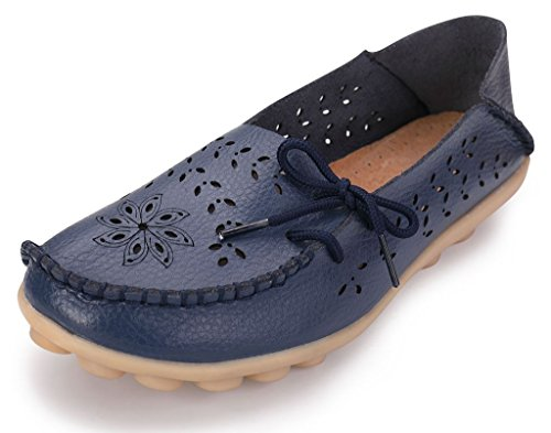 761415687b400 labato Women's Leather Casual Loafers Driving Moccasin Flats Slip-On Shoes
