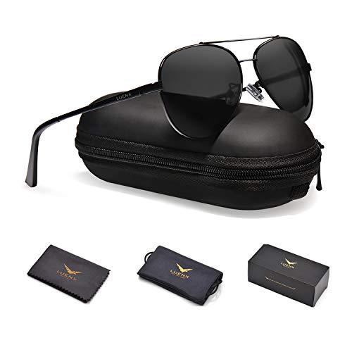 Brand Name Aviator Sunglasses - LUENX Men Women Aviator Sunglasses Polarized