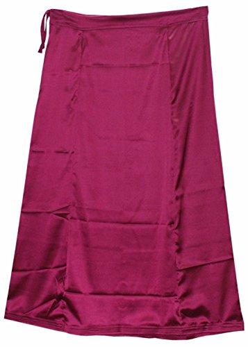 Odishabazaar Women Saree Petticoat Satin Silk Underskirt Lining For Sari + Free Sari Pin (#10)