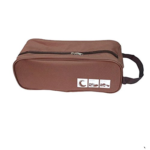 Price comparison product image Shoes Storage Bag,Hmane Oxford Fabric Waterproof Travel Shoe Case Bag--Coffee
