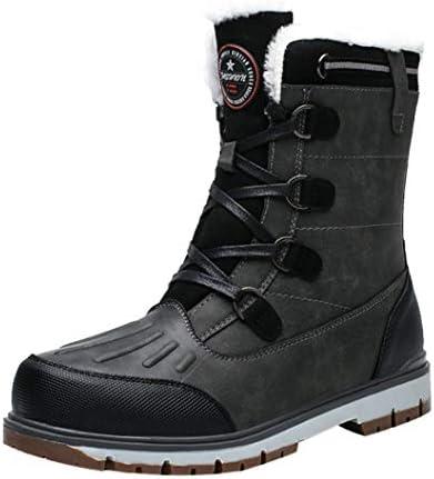 大きいサイズ 牛革 レースアップシューズ ハイカット 作業ブーツ ウォータープルーフ スノーブーツ メンズ 防寒 冬 アウトドアシューズ 軽量 歩きやすい 保温 ムートンブーツ 暖かい 防滑 ウィンターブーツ