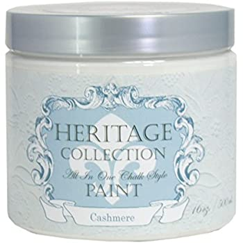 Cashmere, Heritage Collection All In One Chalk Style Paint (NO WAX!) (16oz)