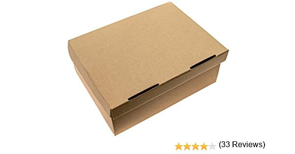 SHOE BOXES 25 Pack 12.5 x 9 x 5 HEAVY DUTY One Piece Design With Lid