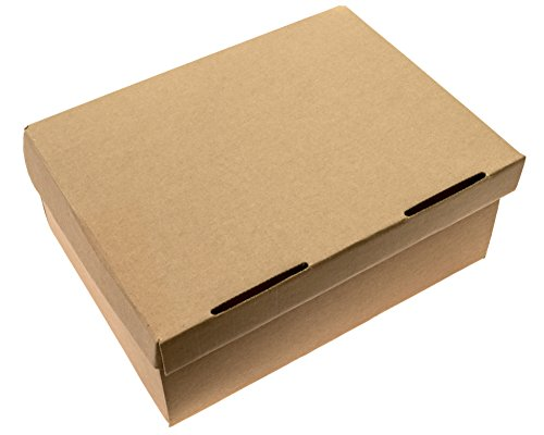 Craft Boxes - Heavy Duty - Reusable - Rectangular Box Set - 5 Pack - Large Size 12.5'' x 9'' x 5'' Perfect for Gift Boxes, Presents, Holidays, Decorating, Weddings & Storage by Precision Cardboard Boxes