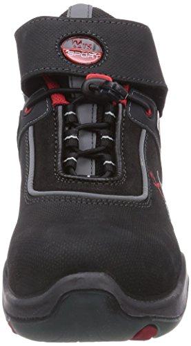 MTS M-Gecko Dark S3 Flex 12115 Unisex-Erwachsene Sicherheitsschuhe Schwarz (Schwarz)