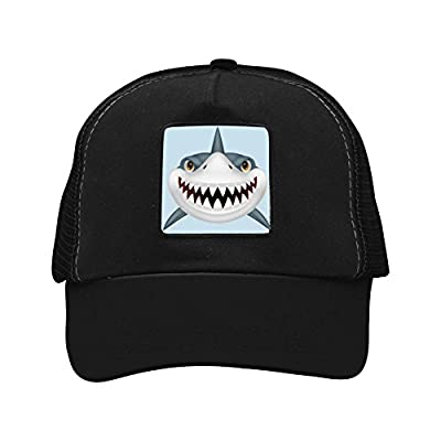 Personalized Mesh Snapback Hats Adult Baseball Cap Scary Shark Trucker Hat For Men and Women