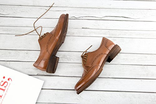 Oxford Shoes Oxford Women Dress Shoes Oxford Wing Black For Wingtip Oxfords Vintage E208 A Women Wingtip Laces Suede Flat Brown Womens Casual Leather 4wHwvRq0C