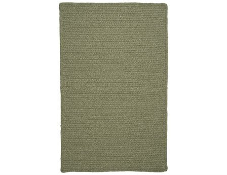 (Colonial Mills Westminster Square 8' Braided Modern Area Rug In Green Solid)