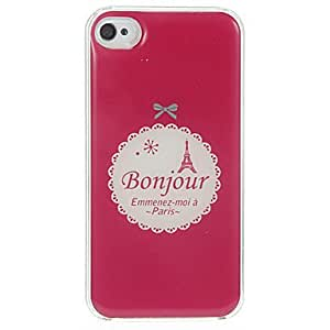 JOE Bonjour Paris Pattern Epoxy Hard Case for iPhone 4/4S