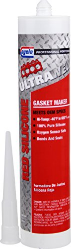 Niteo Cyclo ULTRAWELD Instant Gasket Maker: Red RTV Silicone Adhesive Sealant, 9.8 fl oz, Case of 6 by Niteo