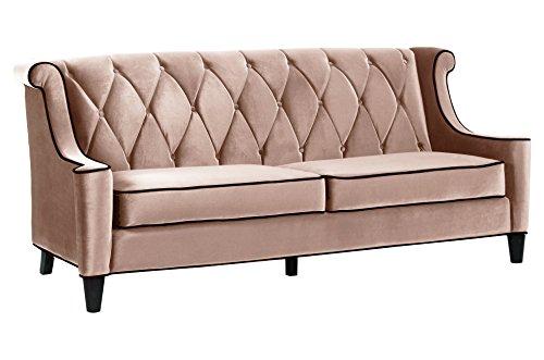 Armen Living Barrister Sofa, Caramel Velvet