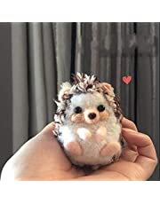 WellieSTR 1Pc Wool Hedgehog Needle Felting Kit, Great for Arts & Crafts & Easy for Beginners
