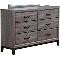 Global Furniture D Kate D Dresser, Foil Grey