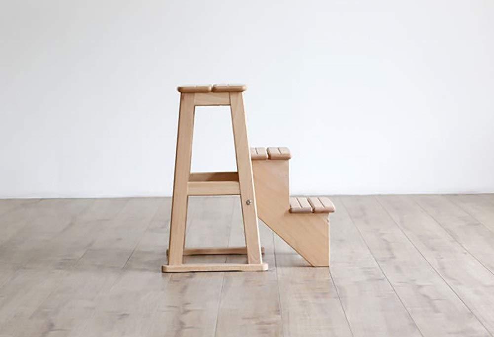 Scaletta In Legno Pieghevole : Gaixia ladder sgabello legno massello scaletta sgabello sgabello