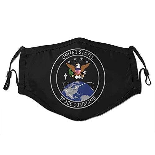 Us Army Security Agency Man Woman Dust Masks Outdoor Adjustable Earrings Face Mask Reusable with More Filter Black
