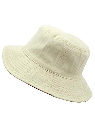 Luxury Divas Beige Reversible Rain Or Shine Bucket Hat Size L/XL