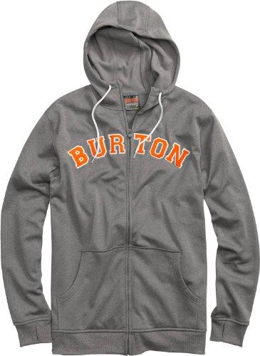 2012 Burton Mens Snowboard (Burton Premium Bonded Hoodie Gray Heather Mens Sz M)