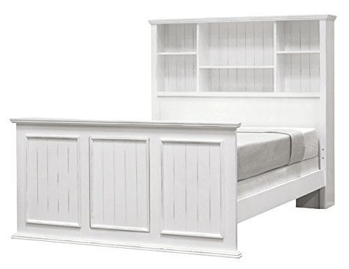 Salem House Country Cottage Full Captain Bed Complete, Bright White