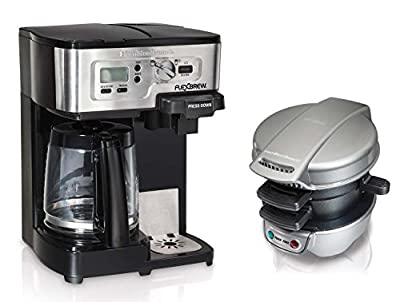 Hamilton Beach 49983 + 25475 12Cup CoffeeMaker w/Breakfast Sandwich Maker Bundle