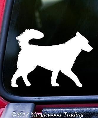"SIBERIAN HUSKY 5"" x 3.5"" Vinyl Decal Sticker - Alaskan Malamute Spitz Dog"