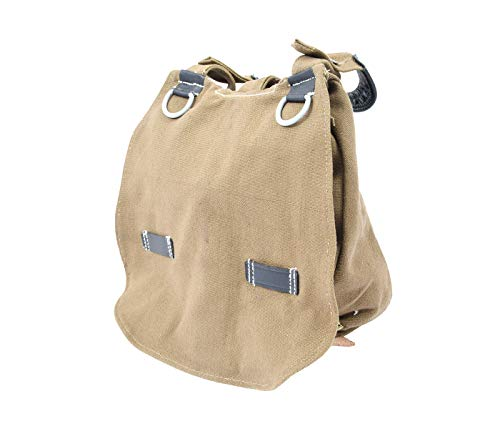 WW2 German Soldier Khaki Bread Bag with Shoulder Strap